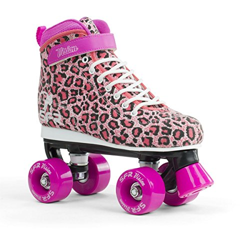 SFR Vision Canvas Rollschuhe Disco Roller Kinder rosa leopard, 38
