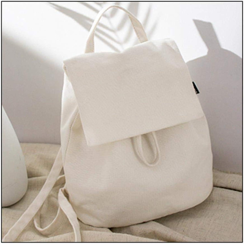 DoubleShoulder Bag Korean Version Baitains Girls'schoolbag, Drawstring Bucket Bag, Recreational Backpack, White