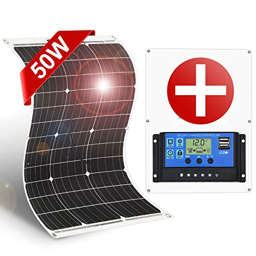 Off-Grid Solar Panel Bendable Thin Film Monocrystalline with Controller by Dokio