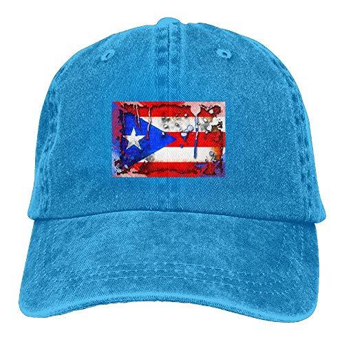 Egoa Papa Hut Männer & Frauen Puerto Rico Coqui Zeichnung Vintage gewaschen gefärbte Baumwolle einfarbig Baseball Cap One Size