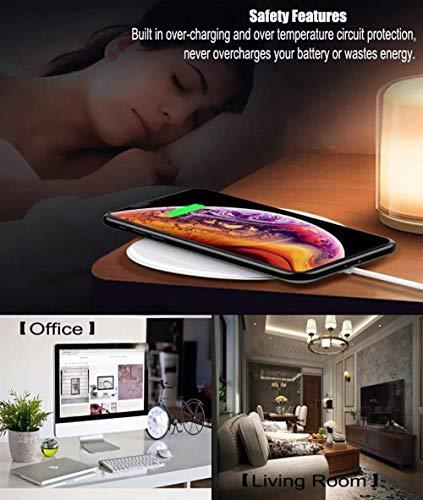 Hoidokly Wireless Charger 10W Kabelloses Ladegerät Qi Ladestation Schnellladen für Samsung Galaxy S10/S10+/S9/S8, Huawei P30 Pro/Mate 20 Pro, 7.5W für iPhone 11/11 Pro/XS Max/XR/X/8/8 Plus/Airpods 2 - 6