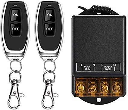 Wireless Remote Switch,110V/120V/240V /30A Relay Wireless RF Switch - black