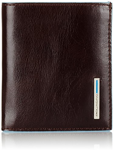 Piquadro Porta Carte di credto, Accesorio de Viaje-Billetera Unisex Adulto, Caoba, 10 cm
