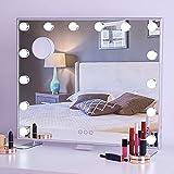 BPT Hollywood Spiegel mit Beleuchtung Schminkspiegel,mit USB 3 Farbtemperatur 14 dimmbare LED Licht...