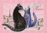ねこの引出し フランス製猫のポストカード  ★Paris Amour
