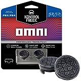 KontrolFreek Omni para mando de PlayStation 4 (PS4) y PlayStation 5 (PS5) | Performance Thumbsticks | 2 baja altura cóncavos | Negro