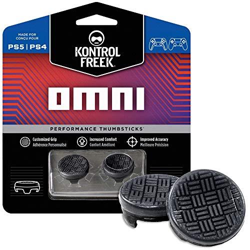 KontrolFreek Omni per PlayStation 4 (PS4) Controller | 2 Levette Performance | 2 basse Concave | Nero