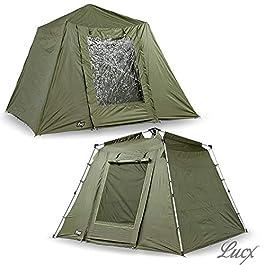 Lucx® Marder Bivvy + Winterskin Tente de pêche pour 1 à 2 à 3 Personnes + Couverture 10 000 mm