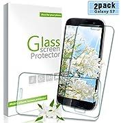 Youer Galaxy S7 Panzerglas Schutzfolie, [2 stück] Premium Gehärtetem Glas Displayschutzfolie für Samsung Galaxy S7, 9H Härte, Anti-Kratzer, Ultra-klar, Blasenfreie - Transparent