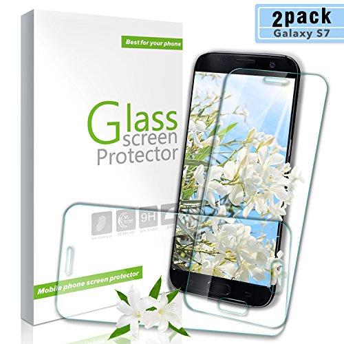 Youer Galaxy S7, Pellicola Proteggi Schermo in Vetro temperato, durezza 9H, AntiGraffio, infrangibile, Senza Bolle, Compatibile con Le custodie, per Samsung Galaxy S7 – Trasparente