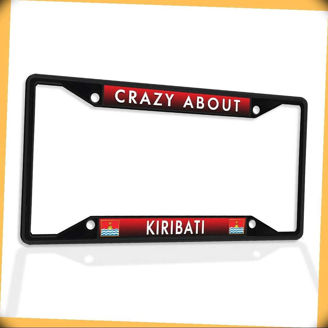 New Metal free shipping Aluminum Alloy Black B4K License Cr Reservation Plate Insert Frame
