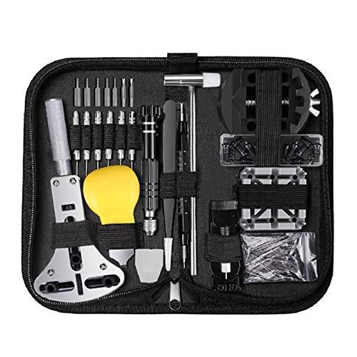 ZRNG 153 piezas de la reparación del reloj kit profesional Bar Juego de herramientas de primavera, Kit de herramientas de reemplazo de la batería del reloj, venda de reloj del Pin del acoplamiento del