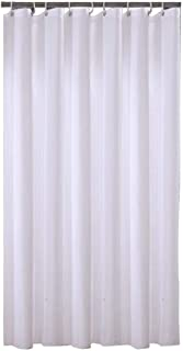 Sfoothome 36 Inch Wide x 72Inch Long Hotel Fabric Small Size Shower Curtain Waterproof Bath Curtains Heavy Weight, Pure White