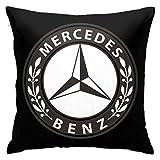 Shanghao Mercedes Benz Emblem Superweiche Kissenbezüge 18'' X 18'' Zoll quadratisch dekorative Kissenbezug Kissenbezug Kissen