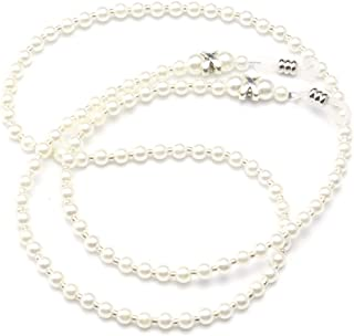 Fashion White Small Pearl Beaded Eyeglass Chain Sunglass Holder Strap Lanyard Necklace