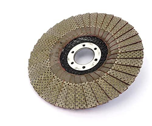 QWLHZW 5 Pulgadas 1pc 60/100/200/400 Ruedas de molienda de Grano 125 mm Solapa Lijado Disco abrasivo para Molinillo de ángulo Diamante Almohadilla de Lijado (Grit : 100)