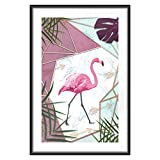 murando Poster XXL Flamingo 60x90 cm mit Rahmen Bilder
