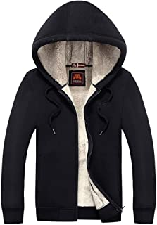 Men 's Winter Warm Coat Cotton Plus Velvet Hooded Jacket