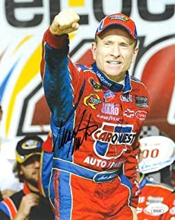 Mark Martin Signed Picture - 8x10 Hologram #DD39183 Carquest) - JSA Certified - Autographed NASCAR Photos