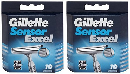 Gillette Sensor Excel Cartuchos de repuesto 20 unidades