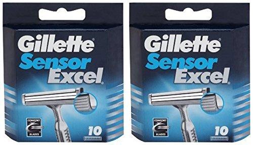 Gillette Sensor Excel - Cartuchos de recambio (20 unidades)