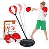 LURLIN Punching Bag for Kids Incl Boxing Gloves & Stand,...