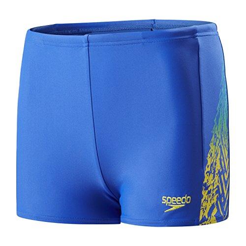 Speedo Jungen Lightning Spritz Panel Aqua Shorts, Jungen, Jammer, 5053744319186, Amparo Blau/Zitrone/Türkis, 140