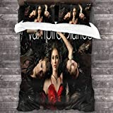 POMJK The Vampire Diaries - Set di biancheria da letto The Vampire Diaries, 100% microfibra, adatto per tutte le stagioni (A01, King220 × 240 cm + (80 × 80 cm) × 2)