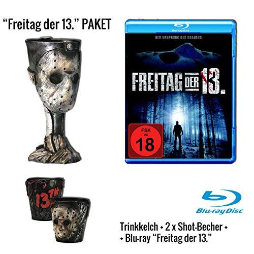 Freitag, der 13. - Teil 1 (Blu-ray) + Trinkkelch + Shot-Becher