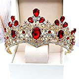 XinLuMing Crown Crown Hairband Diadema Tiara Accesorios para el Cabello para Las Mujeres Diadema Crown Baroque Boda Boda Reina Crown (Color : B)