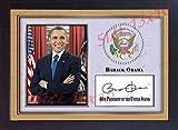 SGH SERVICES Gerahmtes Poster mit Autogramm von Barack