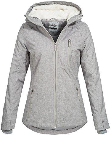 Sublevel Damen D5174X44400A Winterjacke Jacke mit gefütterter Kapuze 9 Farben XS-XL Pencil Grey Melange XS
