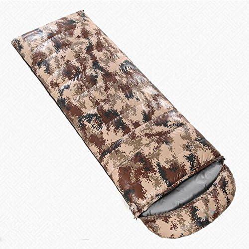 Z&HX sportsSac de Couchage en Bas Camouflage en Plein air Sac de Couchage en Coton Blanc vers Le Bas Sac de Couchage envelopp¨