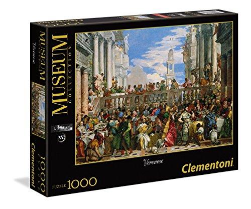 Clementoni - Puzzle Museo louvre 1000 Piezas Veronese: Las Bodas de Cana (39391)