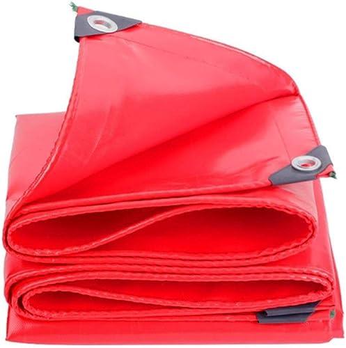 Tenez-vous toujours au succès Baches - Bache Rouge épaississement de la Prougeection Solaire Tissu imperméable Bache imperméable Isolation de Camion Oxford Toile Toile Canopée Bache (Taille   4m8m)