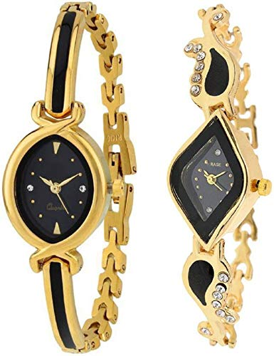 Xforia Girls Watches Black Color Dial Watch for Women Latest Pack of 2 (RG-FLX-50)