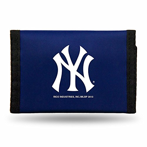 Rico MLB New York Yankees Products MLB Nylon Wallet New York Yankees, Black, Small