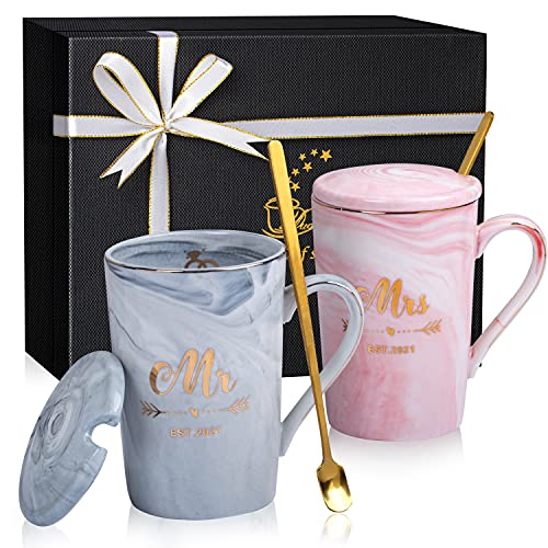 Mr and Mrs Coffee Mugs Est 2021 Wedding gifts for the couple, Mr Mrs...