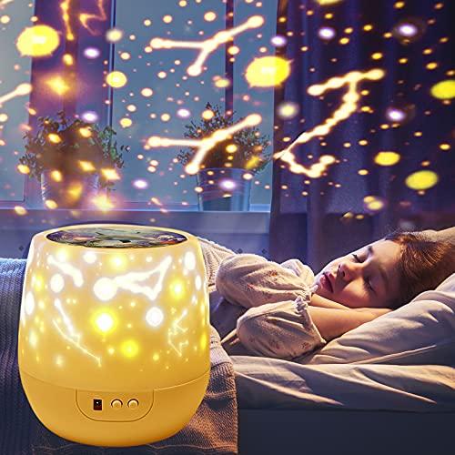 Shayson 2 in1 Rotating Projector Night Light, Solar Planet Night Light for Kids Boys Under Sea Projector Rotating Star Projector Nightlight for Children