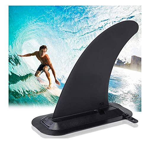 Aleta central de tabla de surf - PVC Stand-Up Paddle inflable Aletas de tabla de surf de agua Aletas de repuesto para tabla de remo de un solo centro - Quillas de Longboard de kayak de liberación rápi