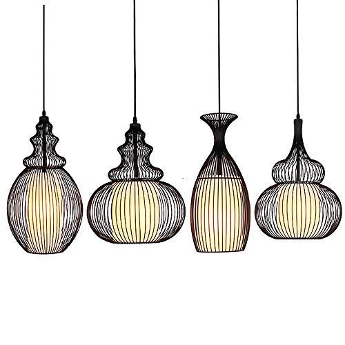 SLSMD stijl ijzeren kroonluchter, stijl metalen kroonluchter plafondlamp, smeedijzeren pompoen kroonluchter, keuken eetkamer, vensterbank, balkon, bloemenwinkel, gang