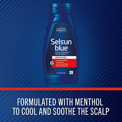 Selsun Blue Medicated Maximum Strength Dandruff Shampoo, 11 Ounce by Chattem, Inc. [Beauty] (English...