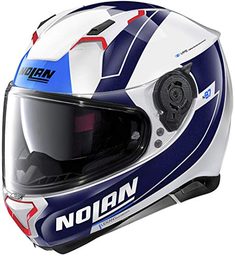 Nolan N87 Skilled N-Com Helm Weiß/Blau/Rot L (61)