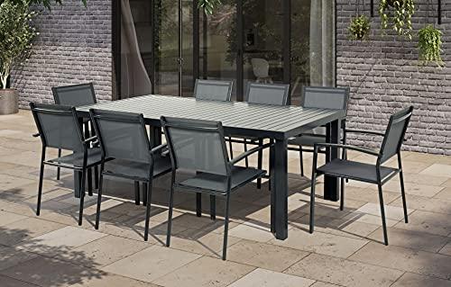 Havana - 8 Seater Extendable Table Dining Set Garden Furniture Outdoor