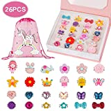 BAOQISHAN 26PCS Little Girl Lovely Jewel Rings in Box Unicorn Backpack Jewelry Set Adjustable No Duplication Girls Play Dress Up Pretend Play Dress Up Rings Party Favor(24Ring+Backpack+Gift Box)