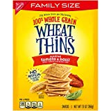 Wheat Thins Crackers, Sundried Tomato & Basil Flavor, 1 Family Size Box (13...