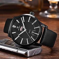 BENYAR Men's Watch Japan Quartz Movement-30M Waterproof Fashion Sports Chronograph Date Leather Men's Watch #2