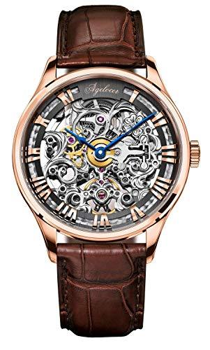 Agelocer - Reloj automático de lujo mecánico de acero inoxidable para hombre