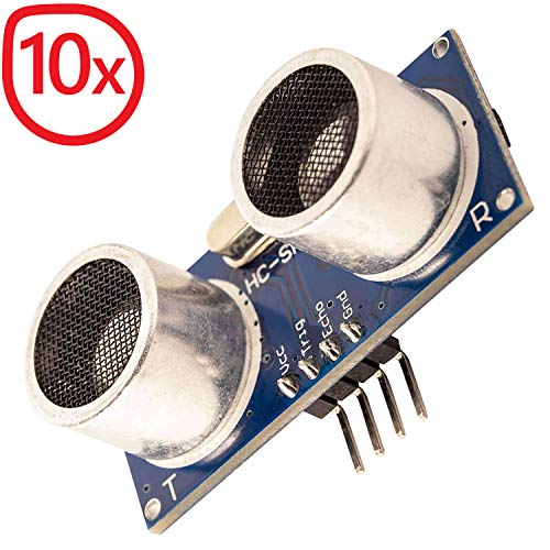 AZDelivery 10 x HC-SR04 Ultraschall Modul Entfernungsmesser Sensor für Raspberry Pi und Arduino mit gratis eBook!