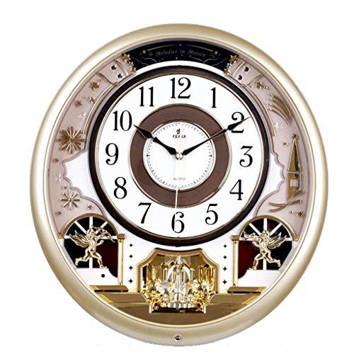 Everyday home Horloge murale silencieuse atmosphère européenne avec fonction de chronométrage salon/chambre décoration créative de la mode (Couleur : Silver, taille : 40.1 * 38 * 9cm)
